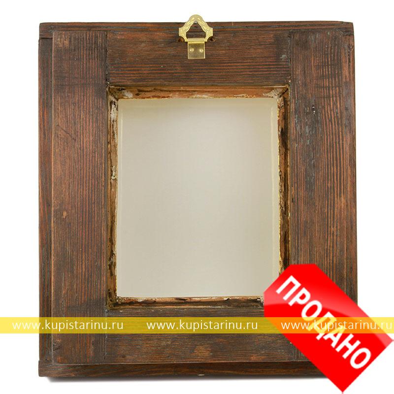 Рамка из потолочного плинтуса со стеклом